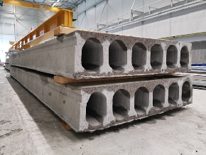<div>Hollow core slabs ready for delivery</div>